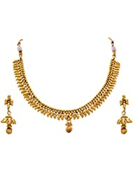 JFL - Traditional Ethnic Temple & Antique One Gram Gold Plated Designer Necklace Set / Jewellery Set For Women...