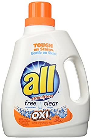 All Ultra Free Clear Oxi Liquid Laundry Detergent, 94.5 Ounce
