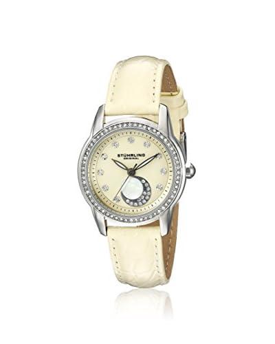 Stührling Women's 561.03 Luna 561 Beige/Beige Stainless Steel Watch