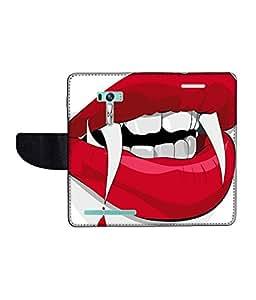 KolorEdge Printed Flip Cover For Asus Zenfone Selfie ZD551KL Multicolor -(1479-55KeMLogo11971ZenSelfie)