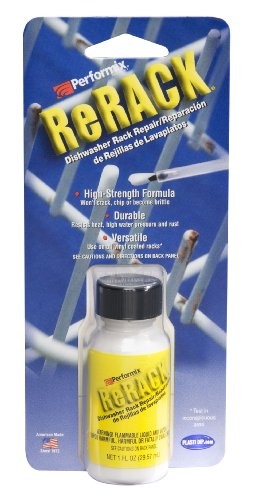 Performix 630076 ReRack White Dishwasher Rack Repair - 1 oz. Bottle
