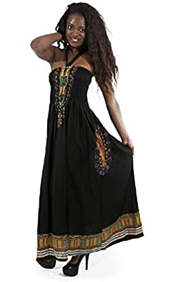Long Traditional African Print Tube Dress - Available in Many Colors