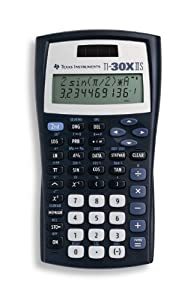 Texas Instruments TI-30X IIS 2-Line Scientific Calculator, Black