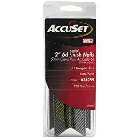 Senco A302000 15-Gauge by 2-Inch Bright Basic Finish Nail