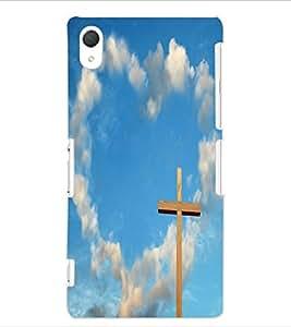 ColourCraft Jesus Cross Design Back Case Cover for SONY XPERIA Z2