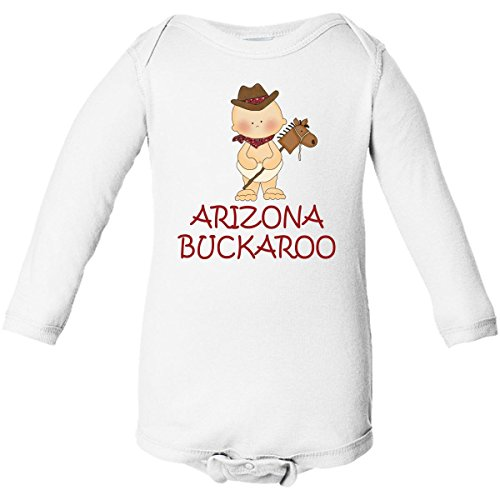 Inktastic Little Arizona Buckaroo Long Sleeve Creepers 6 Months White front-655731
