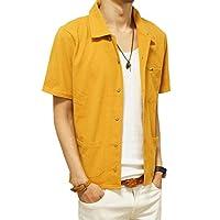 (ジーアールエヌ) grnウッドビーズオープンカラー鹿の子シャツ/半袖カジュアルシャツ
