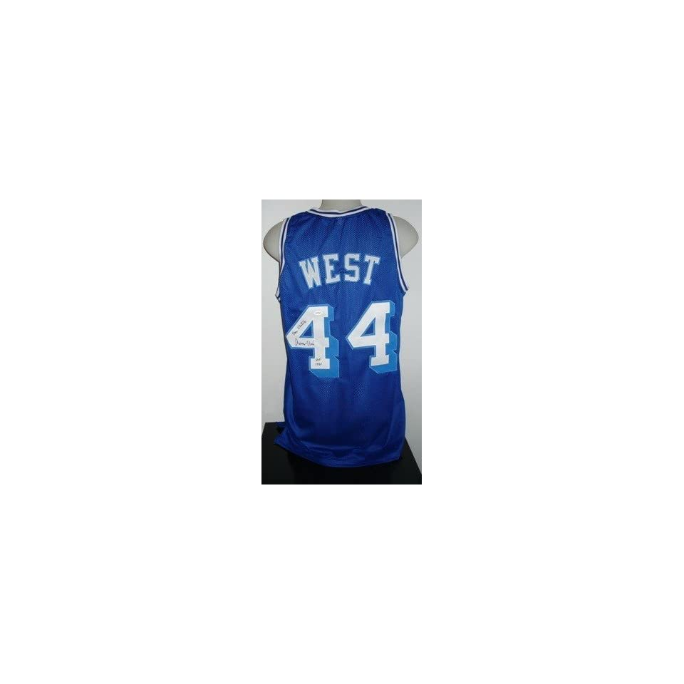 ba6d62640 Signed Jerry West Jersey Throwback 2xInscr JSA Autographed NBA Jerseys