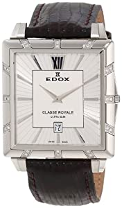 Edox Men's 27029 3D AIN Classe Royale Rectangular Date Watch