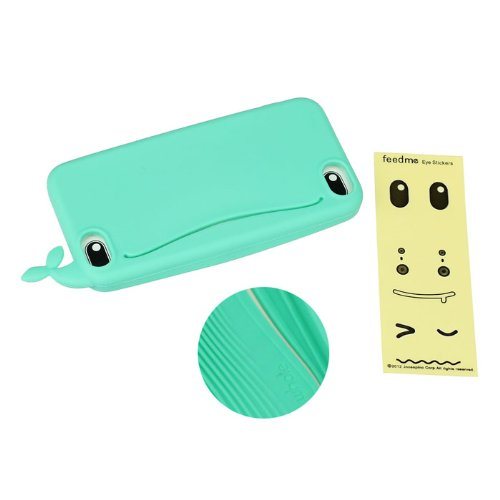 New Niceroker Child love Cute Big Mouth Whale Rubber Card Holder Soft Case Cover For iPhone 5 5S (Mi...