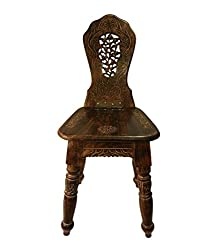 Chilifry Wooden Home Decor Folding Chair (Brown)
