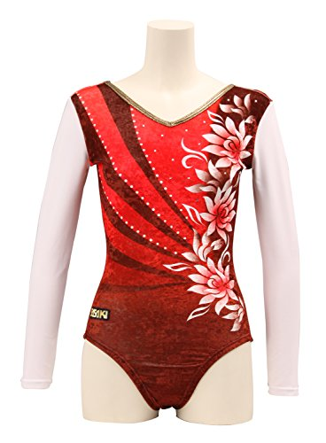 Sasaki (SASAKI) gymnastics Leotard long sleeve SP-7153LG red GL size