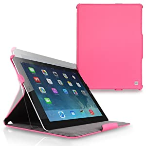 CaseCrown Ace Flip Case for iPad 4th Generation with Retina Display, iPad 3 and iPad 2 - Hot Pink