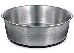 ProSelect Stainless Steel Dog Bowl with Rubber Base, 8-Inch, 52-Ounce