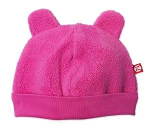 Zutano Cozie Fleece Hat,Fuchsia,3m (0-3 months)