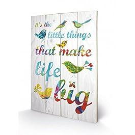 Inspiración - It's The Little Things, Kathy Panton Cuadro De Madera (60 x 40cm)