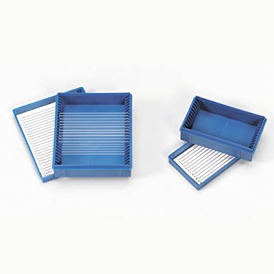 Carolina(tm) Blue Box, Holds 25 Microscope Slides from Carolina Biological Supply Company