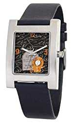 South Park Men's D1526S060 Kuban Collection Kenny Black Leather Watch