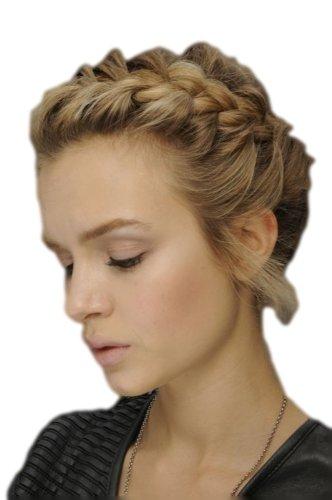 Blond braun gemischt st mmiges geflochtene haarband for Braun mischen