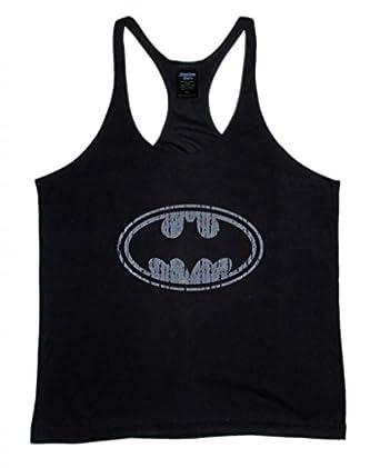 ... .com: Batman Logo Men's Workout Tank Top Stringer Shirt Gym: Clothing