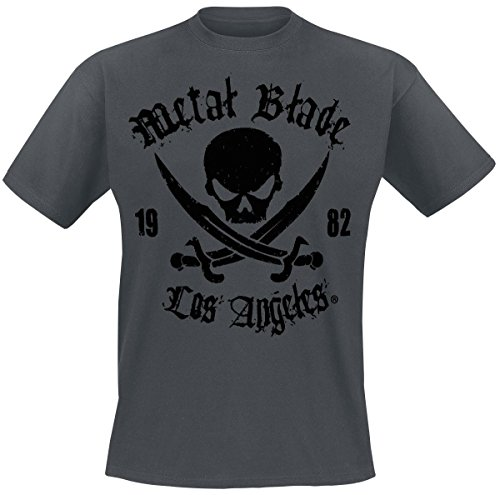 Metal Blade Pirate Logo T-Shirt grigio XXL