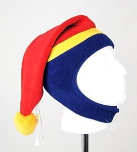 Adult Snow Cone Winter Ski Snowboarding Hat / Beanie - Mauve/Navy/Mustard