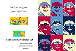 "Personalised Pop Art 6"" x 4"" Birthday Greeting Card-In the Style of the Andy Warhol Coca Cola Work"