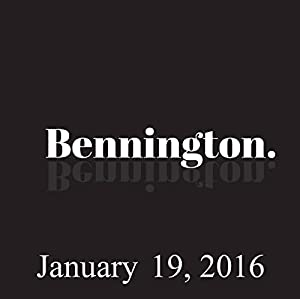 Bennington, January 19, 2016 Radio/TV Program