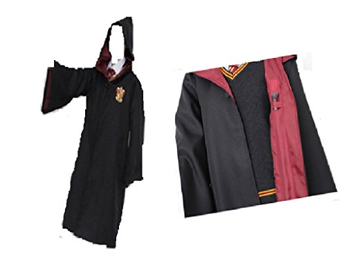 Fashion Hot Harry Potter School Robe Cloak Gryffindor Attire Costume Cosplay