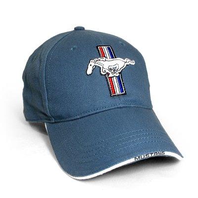 ford-mustang-logo-blue-baseball-hat