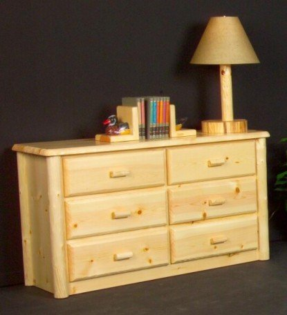 Viking Log Furniture Northwoods 6 Drawer Dresser