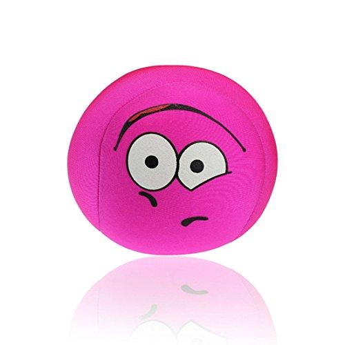 Ukamshop niedlich emoji smiley Kissen Weichen Cartoon Kissen Spielzeug 10 * 10cm (hot pink)