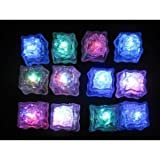 Water Submersible Decorative LED Ice Cubes - 12-pack Multicolor