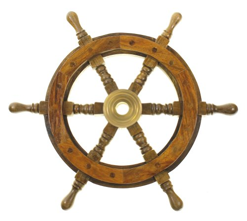 "12"" Wood Ship Wheel - Pirate Shipwheel - Nautical Decor"
