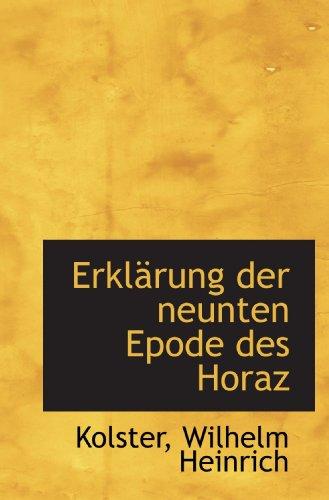 ErklÀrung der neunten Epode des Horaz
