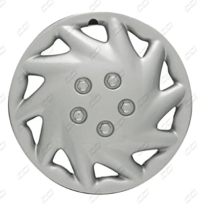 CCI IWCB8326-14S 14 Inch Clip On Silver Finish Hubcaps - Pack of 4