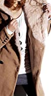 Womens Hooded Faux Fur Coat Double Br…