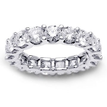 4.86ct 14K White Gold Full Eternity Diamond Ladies