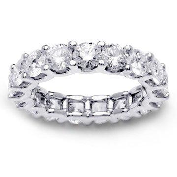 4.86ct 14K White Gold Full Eternity Diamond Ladies