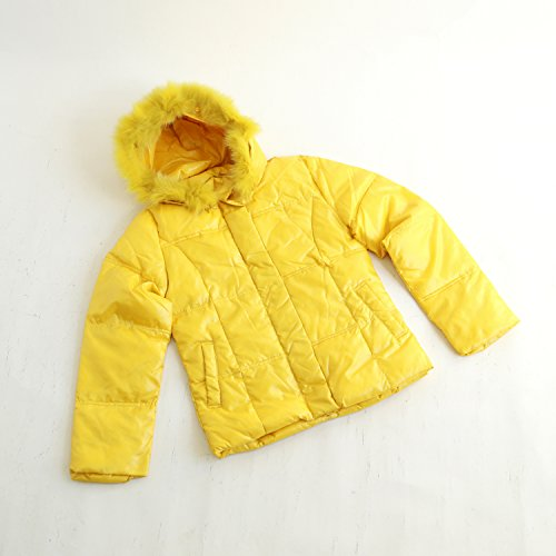 ETHIQUE-confection フード付きジャケット 黄色 中綿入り サイズL