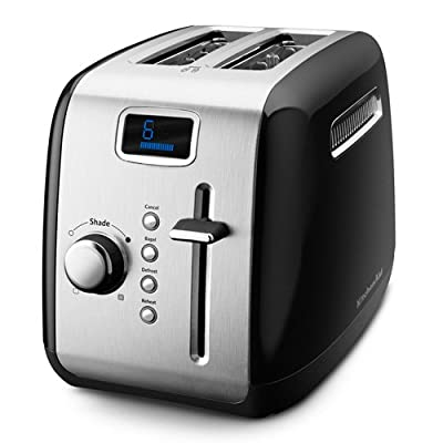 KitchenAid KMT222CU 2-Slice Toaster with Manual High-Lift Lever and Digital Display - Countour Silver from KitchenAid