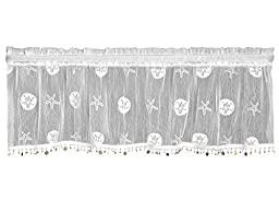 Heritage Lace Sand Dollar Valance with Trim, 45 by 15-Inch, White by Heritage Lace