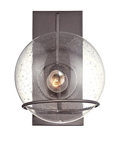 Varaluz Watson 1-Light Wall Lighting, Metallic Bronze/Clear
