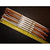 Kitchen - fondue forks spare set 6 COLOUR CODED WOOD WOODEN GRIPS