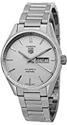Tag Heuer Carrera Automatic Silver Dial Stainless Steel Mens Watch WAR201BBA0723