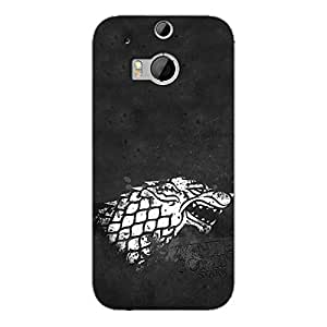 EYP Game Of Thrones GOT House Stark Back Cover Case for HTC One M8