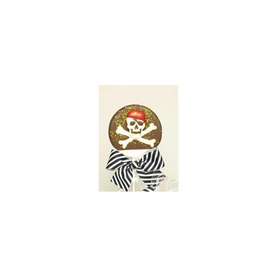 Pirate Skull & Bones Belgian Milk Chocolate Lollipop (4.4 Oz)