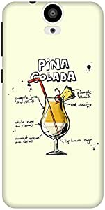 The Racoon Grip Cream Pina Colada hard plastic printed back case / cover for HTC One E9 Plus
