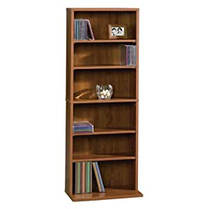 sauder beginnings multimedia storage tower pecan furniture decor. Black Bedroom Furniture Sets. Home Design Ideas