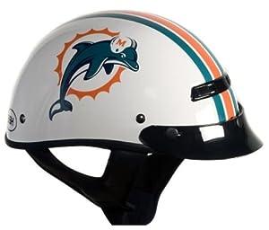 Brogies Bikewear NFL Miami Dolphins Motorcycle Half Helmet (White, Medium) by Brogies Bikewear